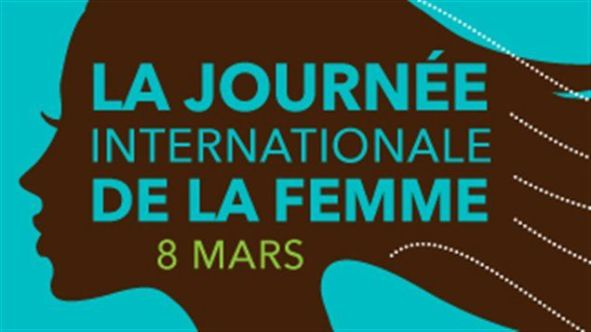 Logo de la Journée internationale de la femme de Condition féminine Canada