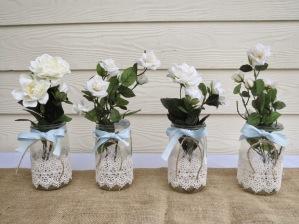 recycled mason jar into wedding decorations7